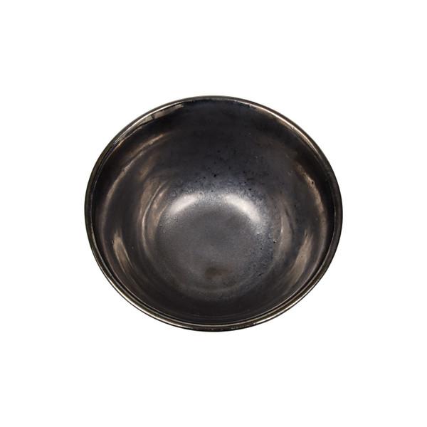 Image of Metallic Slate Gray Round Rice Bowl 2