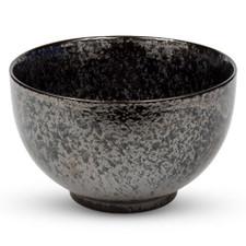 Moss Black Round Bowl