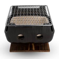 Black Rectangular Charcoal BBQ Konro