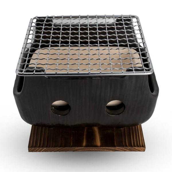 Image of Black Rectangular Charcoal BBQ Konro
