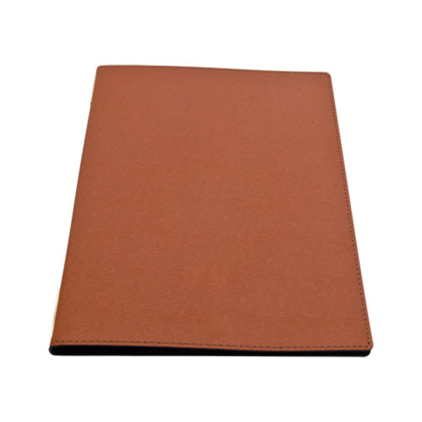Image of Brown Synthetic Leather Menu Cover 1