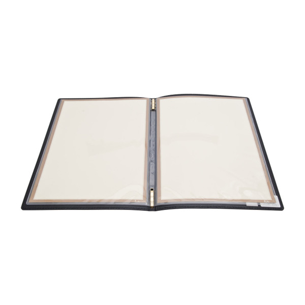 Image of Brown Synthetic Leather Menu Cover 2