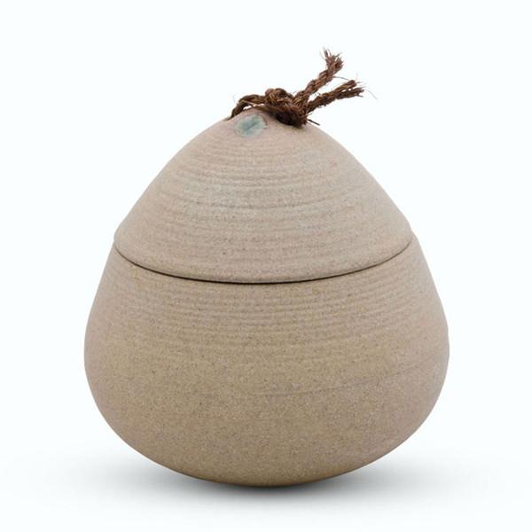 Image of Brown Spiral Lidded Bowl 1
