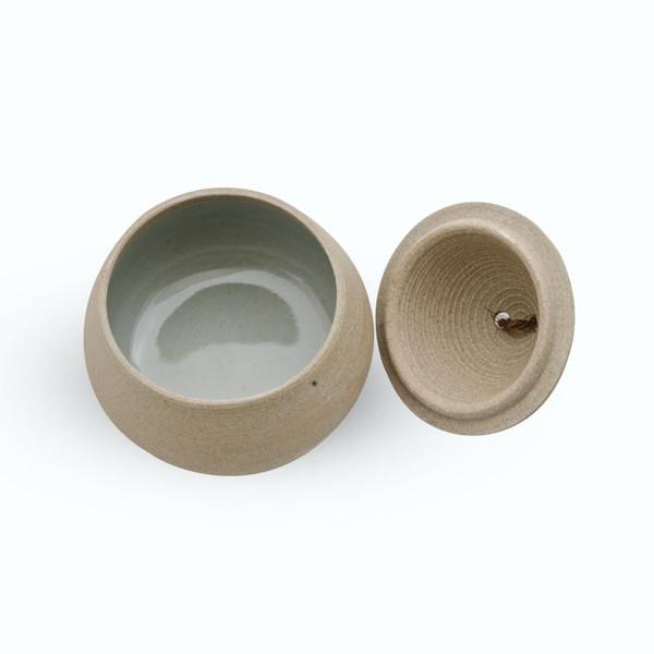 Image of Brown Spiral Lidded Bowl 2
