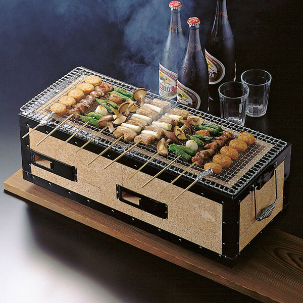 Image of Charcoal Konro Grill with Net - Medium 2