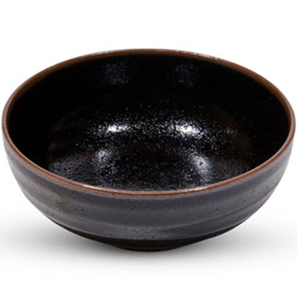 Image of Yuzu Tenmoku Black Bowl