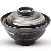 Lidded Bowl with Brushstroke