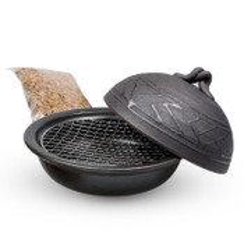 Black Smoker Pot Donabe Set