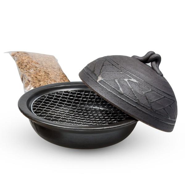 Image of Black Smoker Pot Donabe Set 1