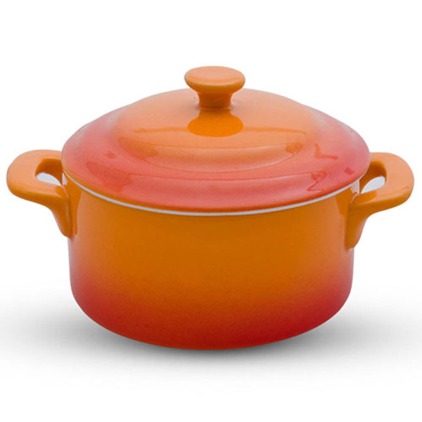 Image of Soleil Orange Small Casserole
