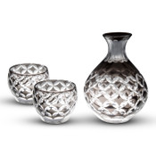 Smoke Gray Glass Sake Set