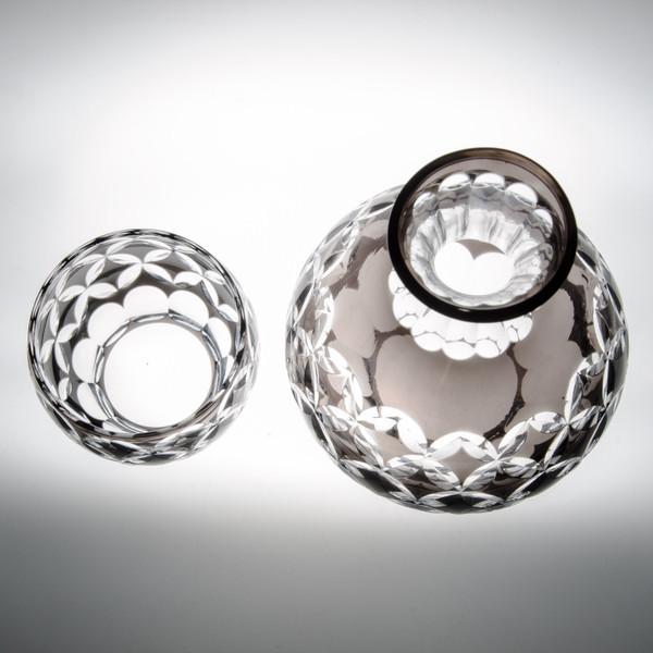 Image of Smoke Gray Glass Sake Set 2