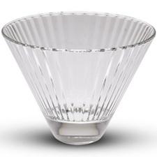 Diva Tall Oval Glass Bowl
