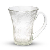 Crackled Clear Glass Tumbler Cup