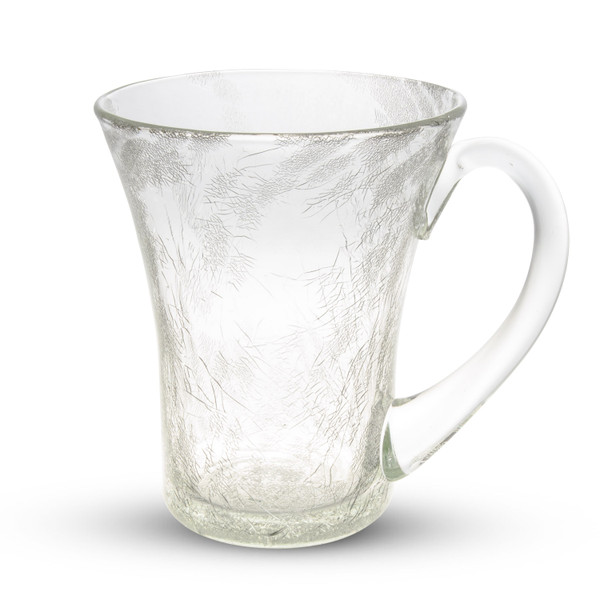 Image of Crackled Clear Glass Tumbler Cup