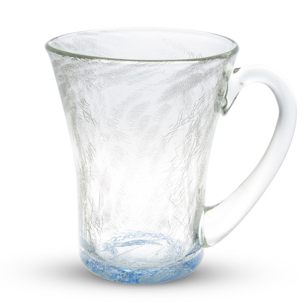 Image of Crackled Blue Glass Tumbler Cup