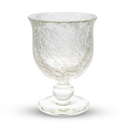 Crackled Clear Wine Glass