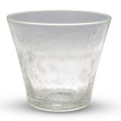 Crackled Clear Glass Rock Cup