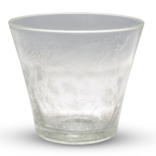Image of Crackled Clear Glass Rock Cup