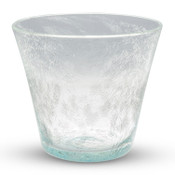 Crackled Blue Glass Rocks Cup