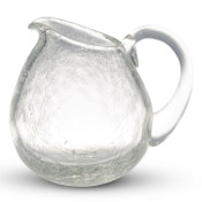 Crackled Clear Glass Creamer