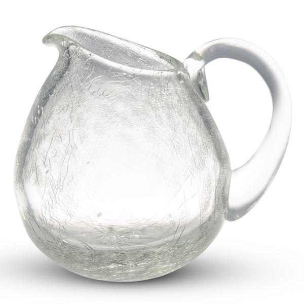 Image of Crackled Clear Glass Creamer