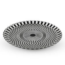 Decor Black Checked Round Glass Plate
