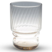 Hard Strong Brown Stackable Glass Cup