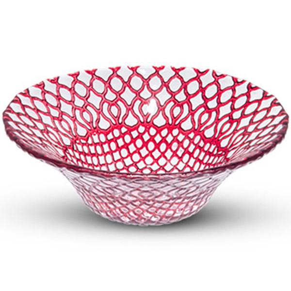 Image of Hana Red Glass Bowl 1