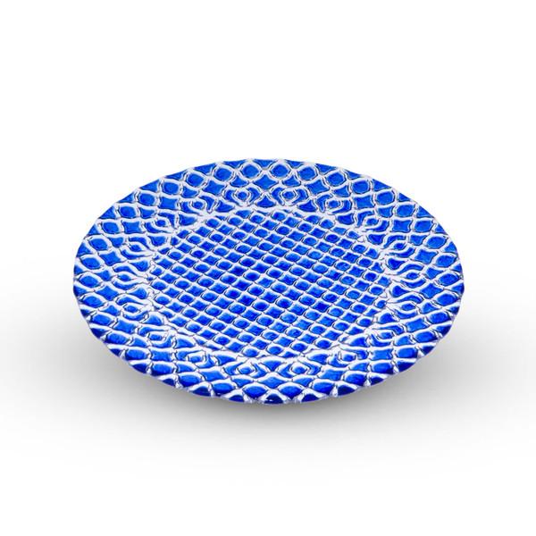 Image of Hana Blue Glass Plate 1