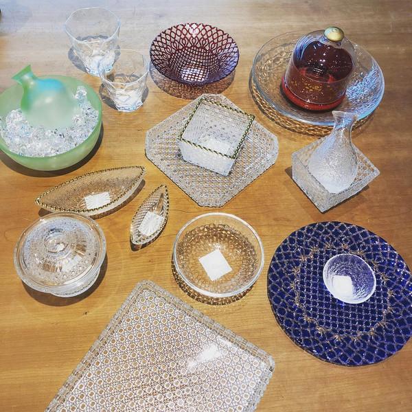 Image of Hana Blue Glass Plate 2