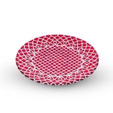 Hana Red Glass Plate