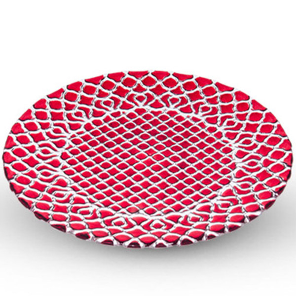 Image of Hana Red Glass Plate