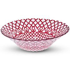 Hana Red Glass Bowl