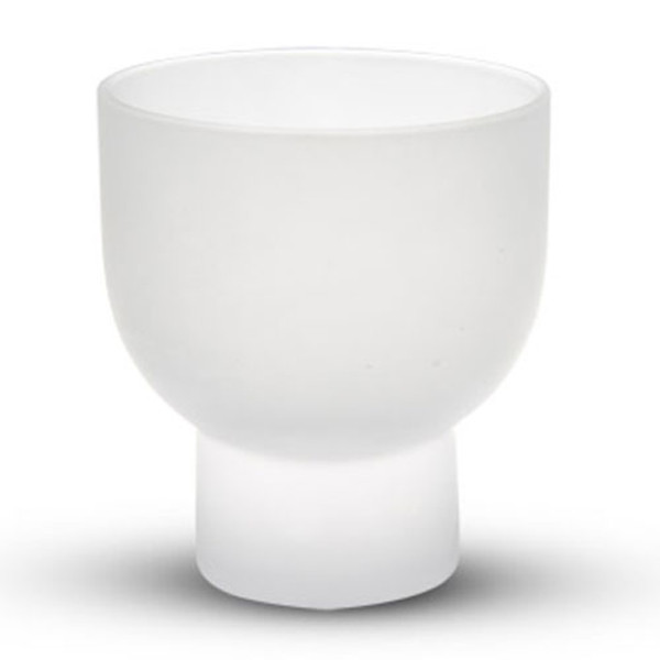 Image of Frosted White Glass Sake Cup