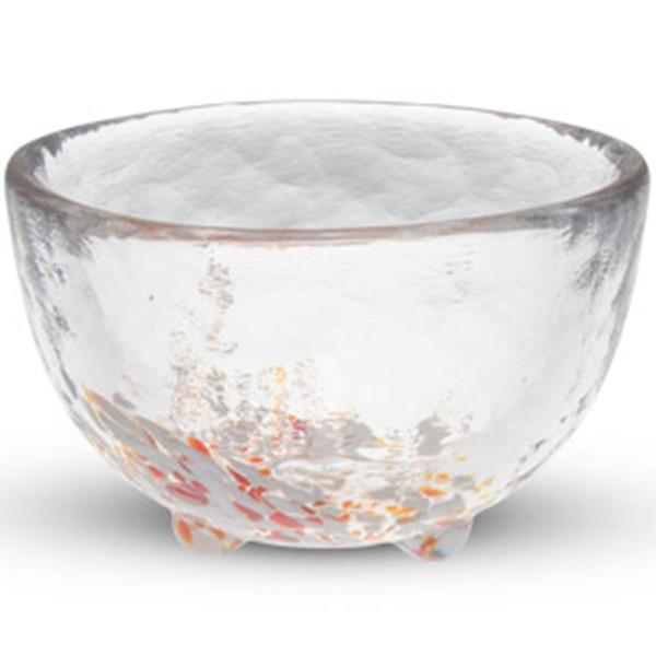 Image of Kurage Red Round Sake Glass 1