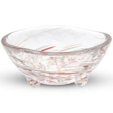 Kurage Red Round Glass Bowl