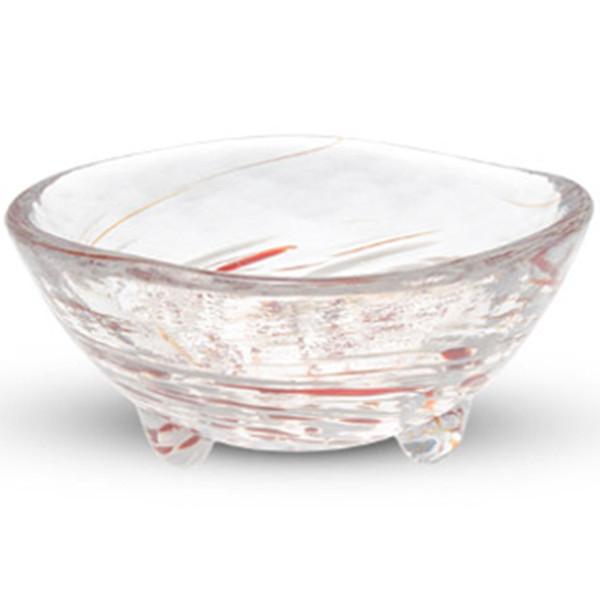Image of Kurage Red Round Glass Bowl 1