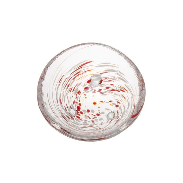 Image of Kurage Red Round Glass Bowl 2