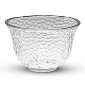 Gold Round Glass Sake Cup