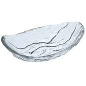 River Ripple Oval Glass Bowl
