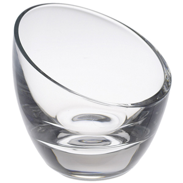 Image of Mini Clear Glass Slashed Serving Bowl