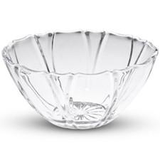 Medium Crystal Clear Round Striped Bowl