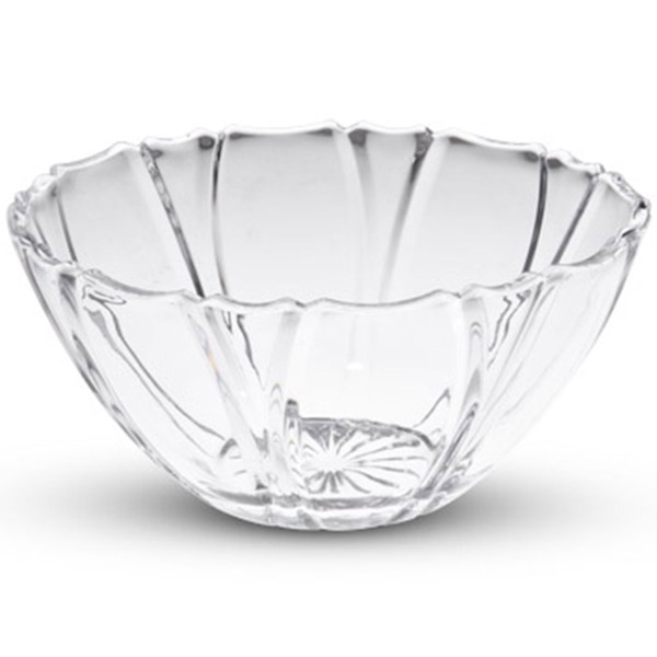 Image of Medium Crystal Clear Round Striped Bowl