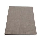 Gray Linen Menu Cover