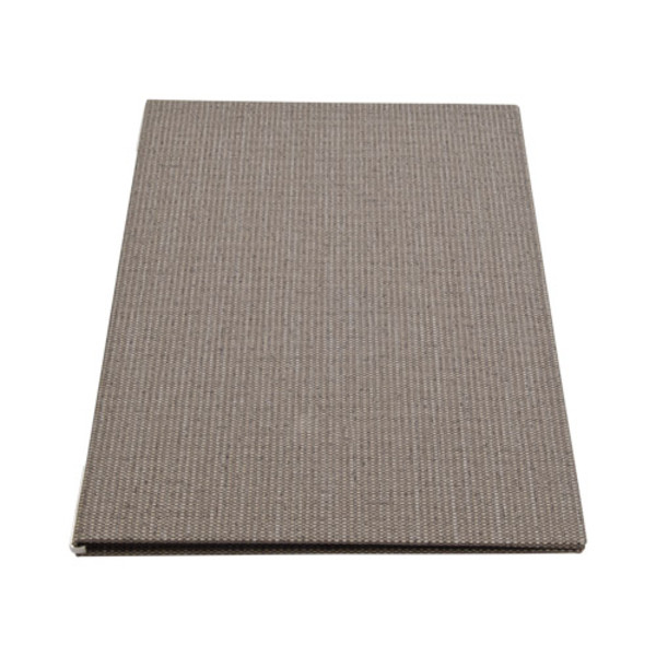 Image of Gray Linen Menu Cover 1