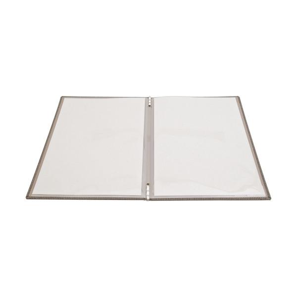 Image of Gray Linen Menu Cover 2