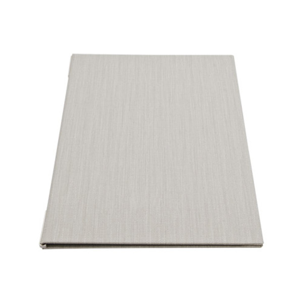 Image of Gray Woven Menu Cover 1