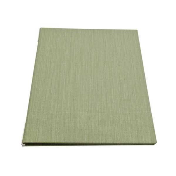 Image of Green Woven Menu Cover 1