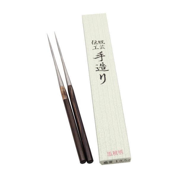 Image of Ebony Wooden Handle Plating Chopsticks (Moribashi)